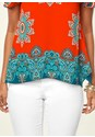 Alternate view Cold Shoulder Print Top