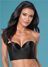 Front view Smooth Longline Push Up Bra