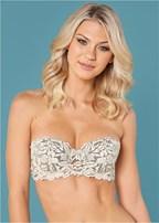 novelty lace strapless bra