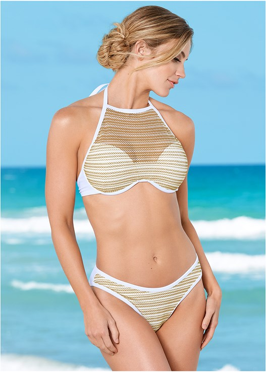 FISHNET PUSH UP TOP,FISHNET BOTTOM,ALLURING HIGH WAIST BOTTOM,RETRO BOTTOM,HIGH WAIST MODERATE BOTTOM