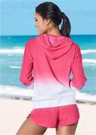 Back View Hooded Terry Cover-Up