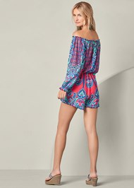 Back view Off The Shoulder Romper