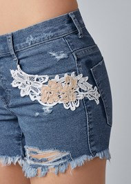 Alternate view Crochet Jean Shorts