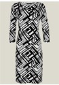 Alternate View Abstract Print Dress