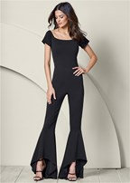 ruffle detail jumpsuit