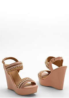 beaded detail wedge