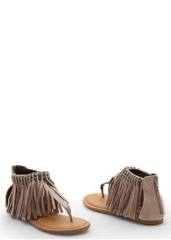 ankle fringe sandal