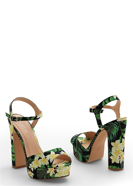 TROPICAL PRINT HEEL