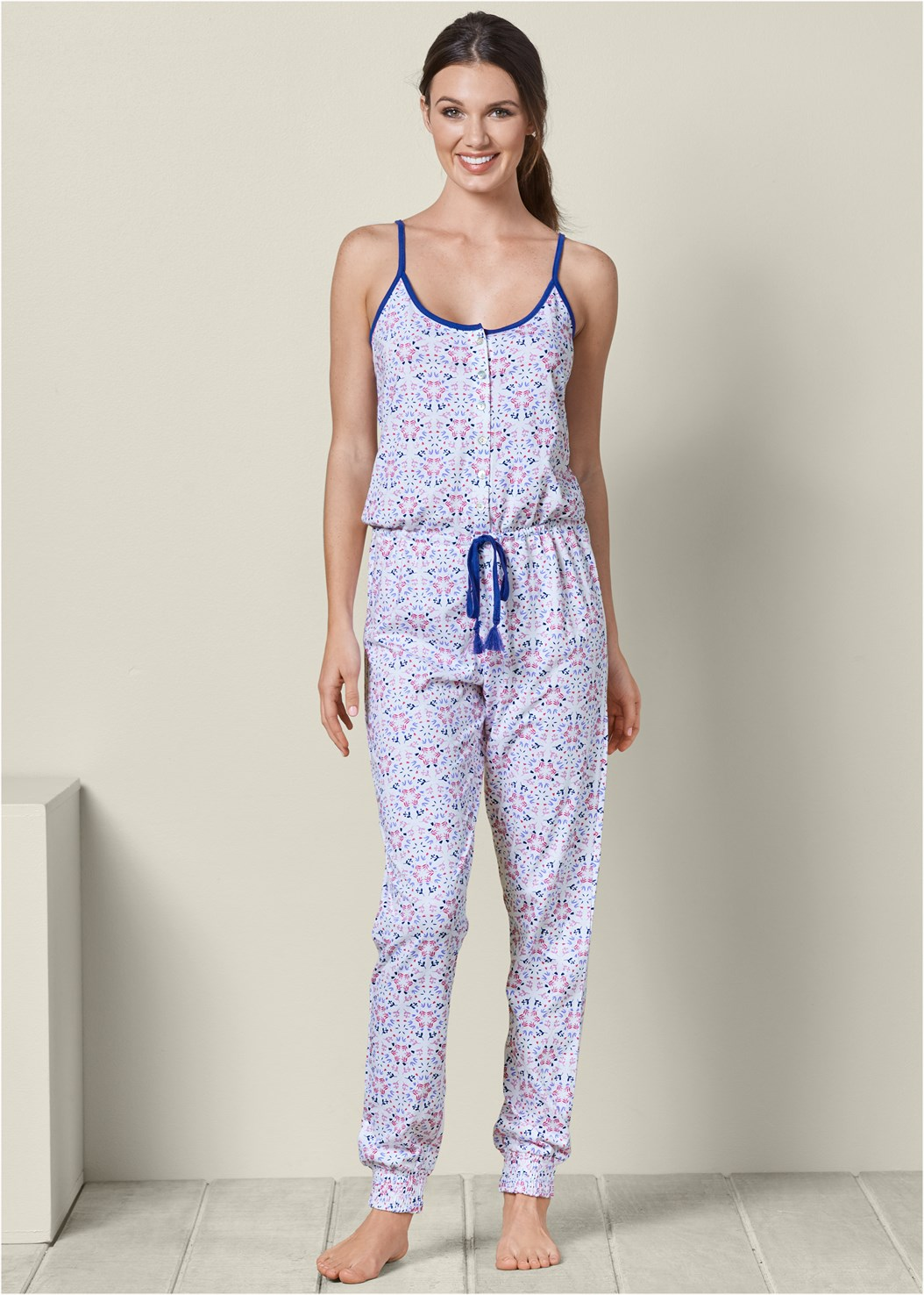 Printed Sleep Jumpsuit