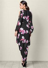 BACK VIEW High Low Print Dress
