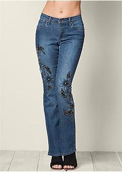 hand embellished jeans
