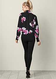 BACK VIEW Tie Front Top