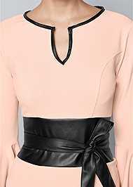 ALTERNATE VIEW Sleeve Detail Belted Dress