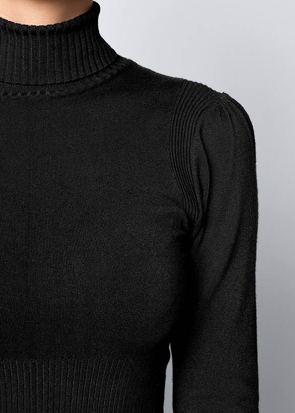 Alternate View Pleated Sweater Dress