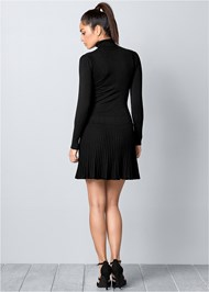 Alternate View Pleated Sweater Dress