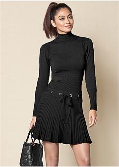 dc7f853391 pleated sweater dress
