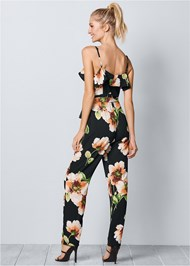 Back view Floral Print Jumpsuit