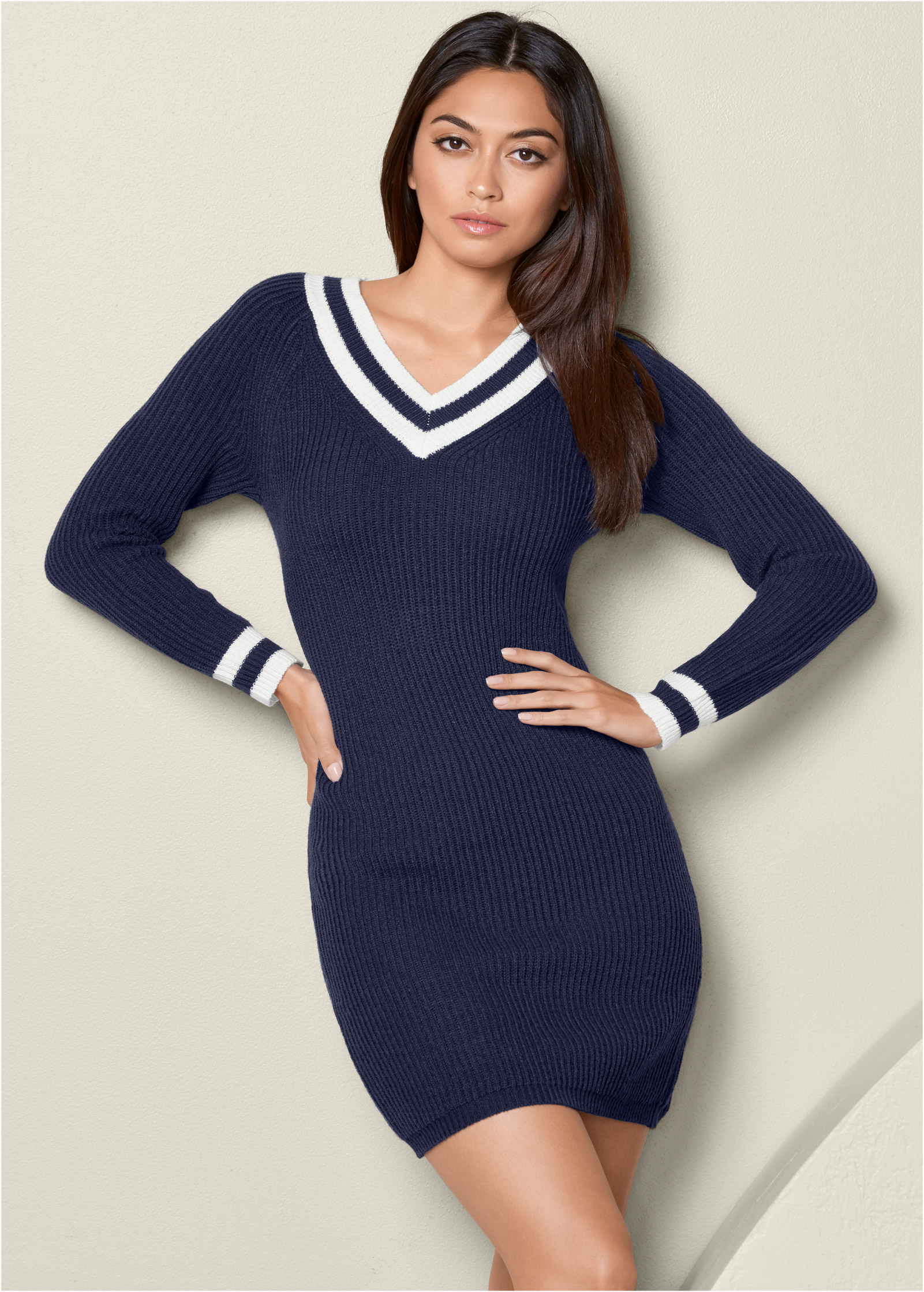 Sweater Dresses with Zippers