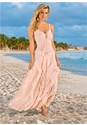 Alternate view Lace Up Ruffle Maxi Dress