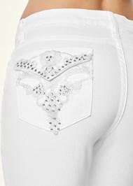 Alternate view Back Detail Capri Jeans