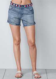 Front view Waistband Detail Shorts