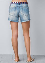 Back View Waistband Detail Shorts