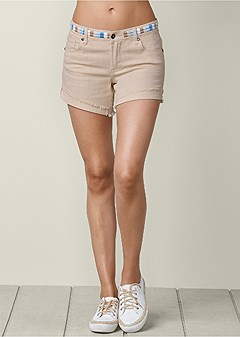 waistband detail shorts
