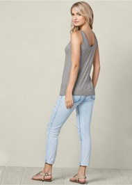 Back view Henley Tank Top