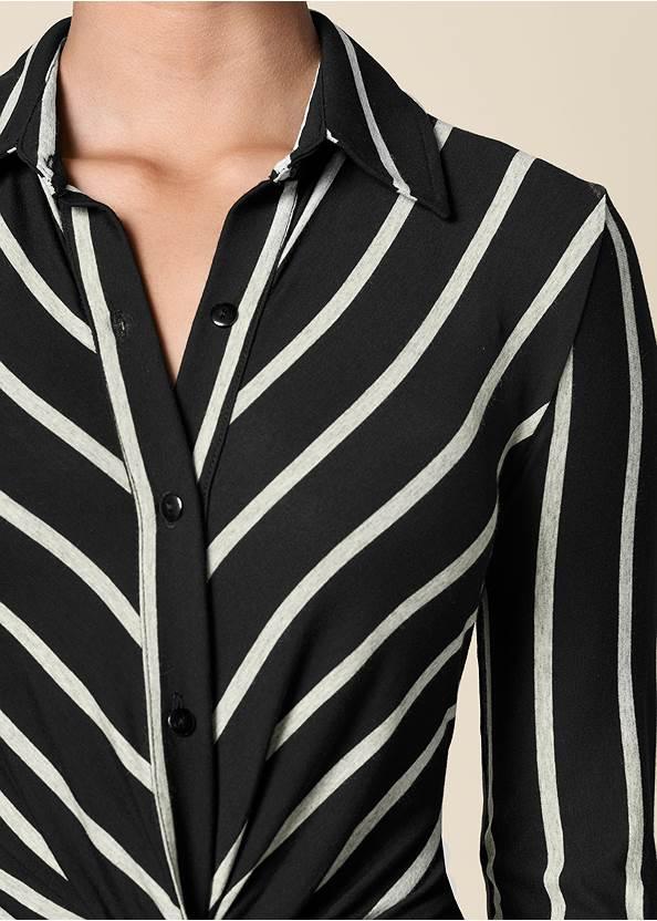 Alternate View Knot Detail Shirt Dress