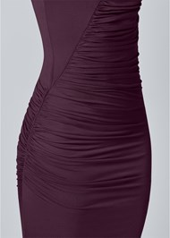 Alternate View Ruched Detail Midi Dress