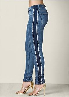 tuxedo stripe jeans