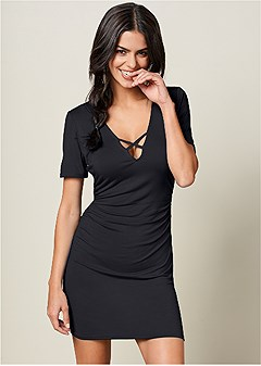 v-neck t-shirt dress b43f80758