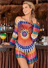 Crochet Detail Cover-Up