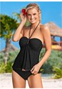 Front view Crochet Bandeau Tankini