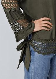 Alternate View Crochet Side Tie Top