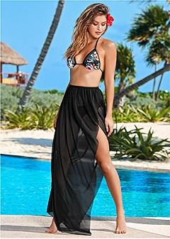 multi wrap mesh skirt