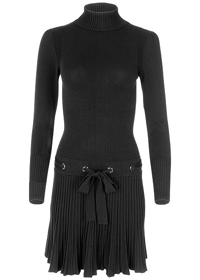 Plus Size Pleated Sweater Dress