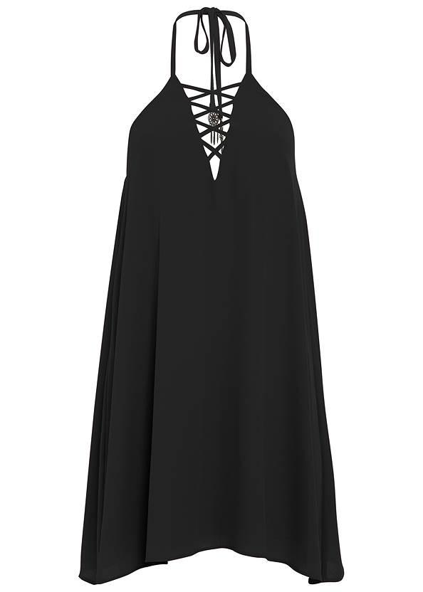 Alternate View Lace Up Detail Mini Dress