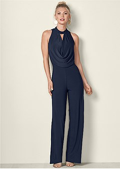 drape detail jumpsuit
