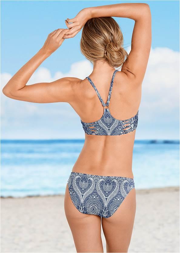 High Neck Sport Bikini Top,Santa Cruz Hipster Bottom,Adjustable Side Swim Short,Pom Pom Bikini Bottom
