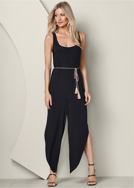 12145b9e967 BELTED JUMPSUIT in Black