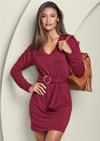 belted lounge dress