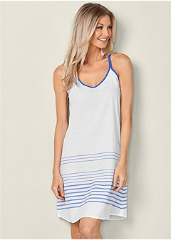 stripe sleep dress