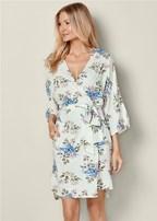 floral print robe