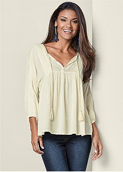 embroirdered peasant blouse