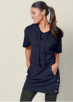 grommet french terry tunic