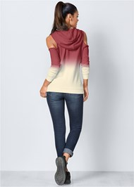 Back View Cold Shoulder Sweatshirt
