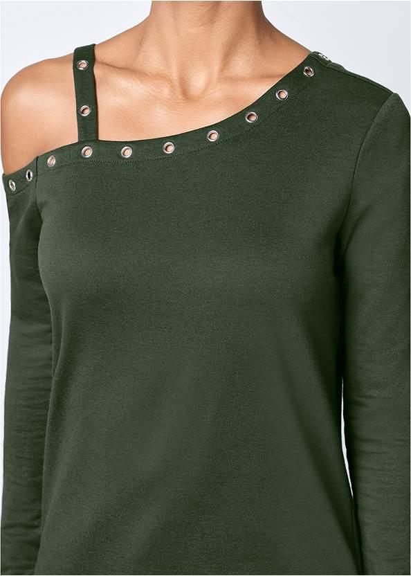 Alternate View Grommet Detail Sweatshirt
