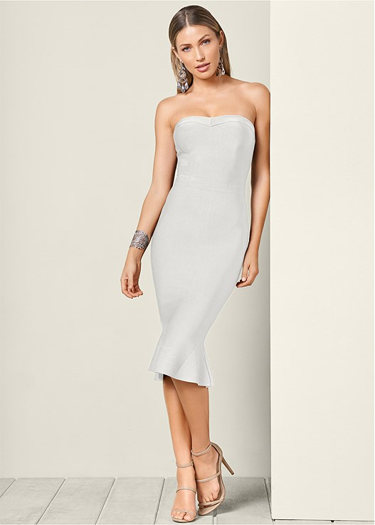 0bf6cd7011e2 White SLIMMING STRAPLESS DRESS from VENUS