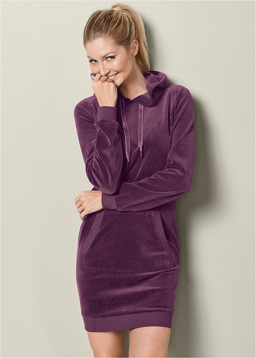 VELOUR LOUNGE DRESS,VELVET SNEAKER